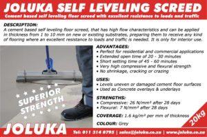 Joluka Self-Leveling Screed
