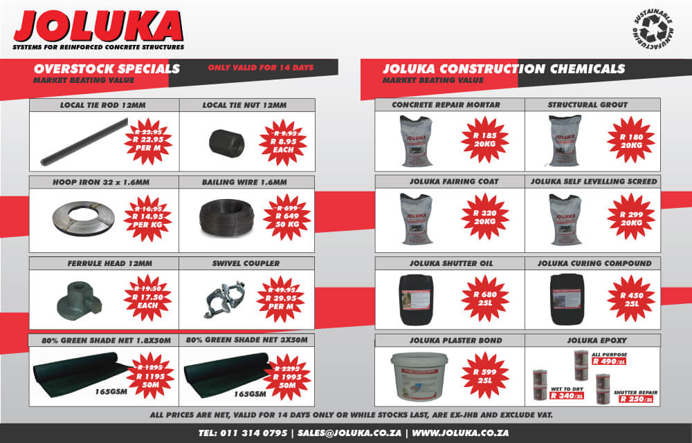 Joluka Overstock Specials valid for 14 Days